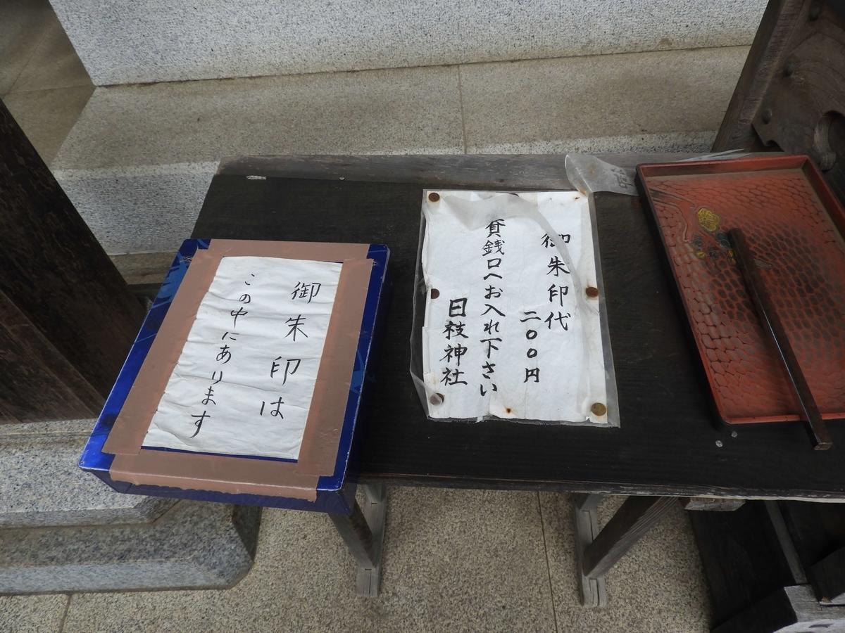 賽銭箱の横に置かれた箱