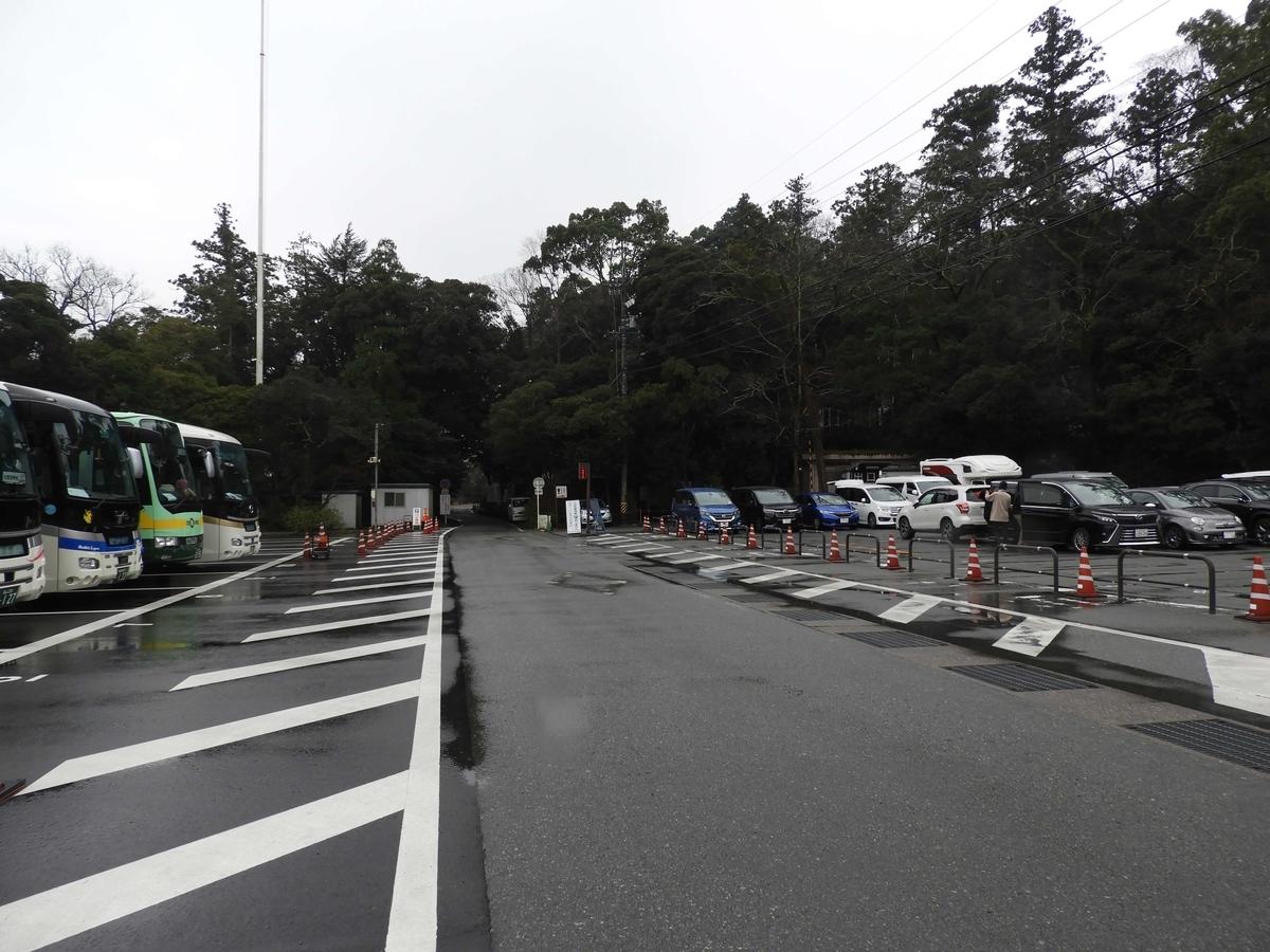 観光バスの駐車場