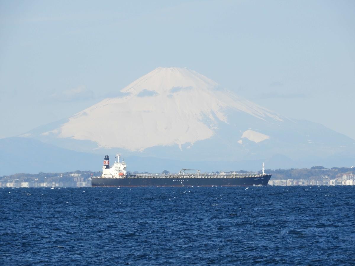 海から見た富士山