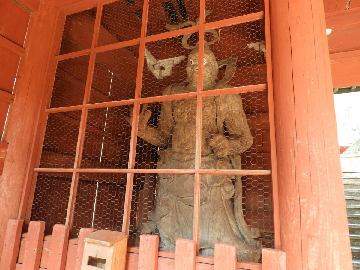 仁王門の左手の金剛力士像