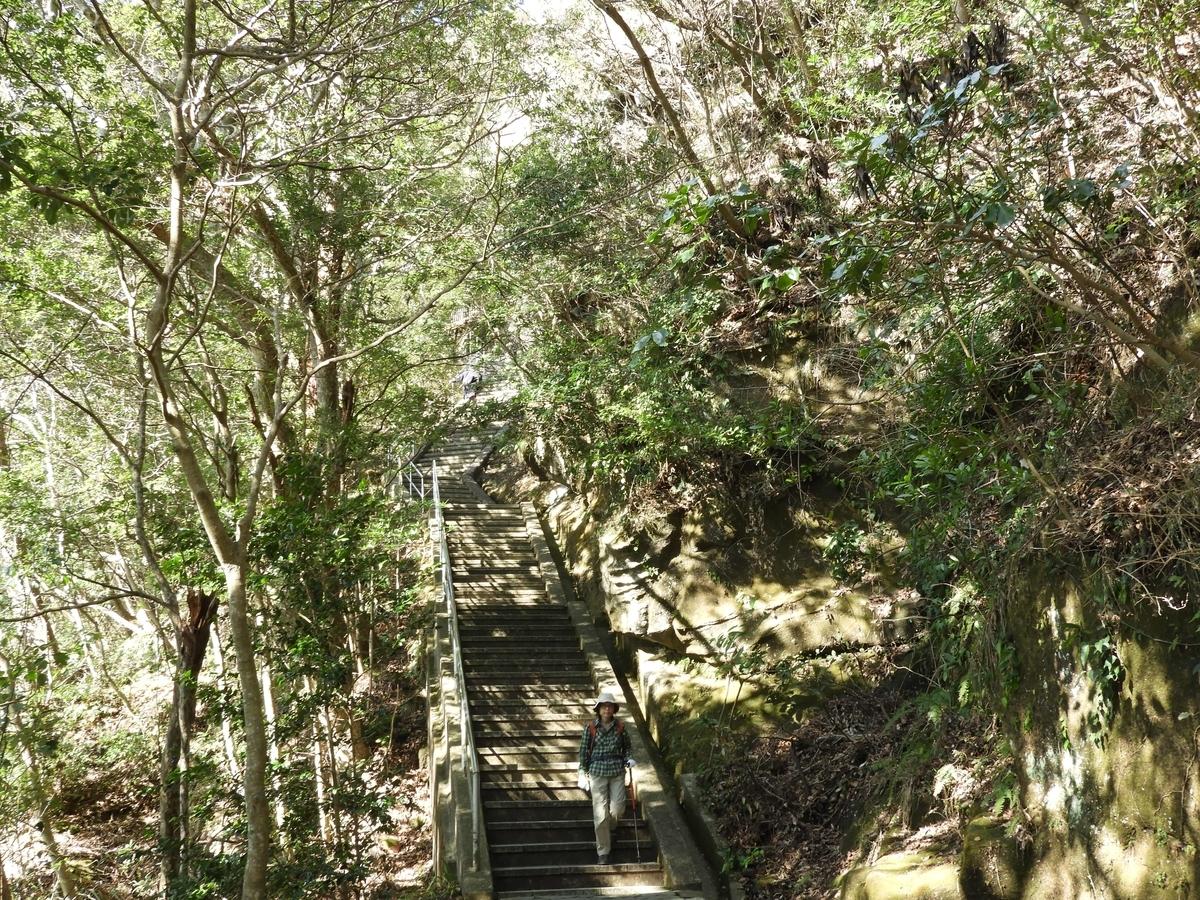 大仏広場から山頂エリアまでの階段