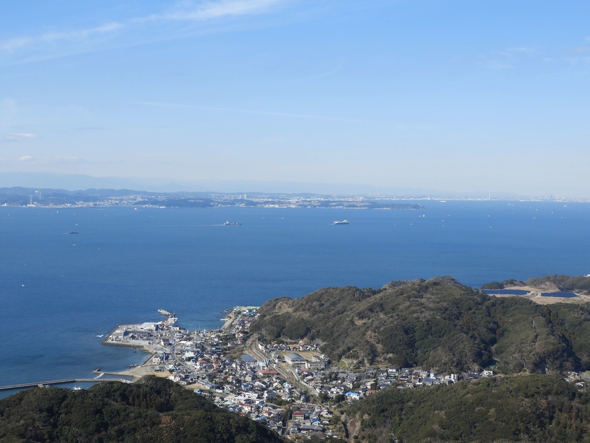 山頂展望台からの東京湾の眺望