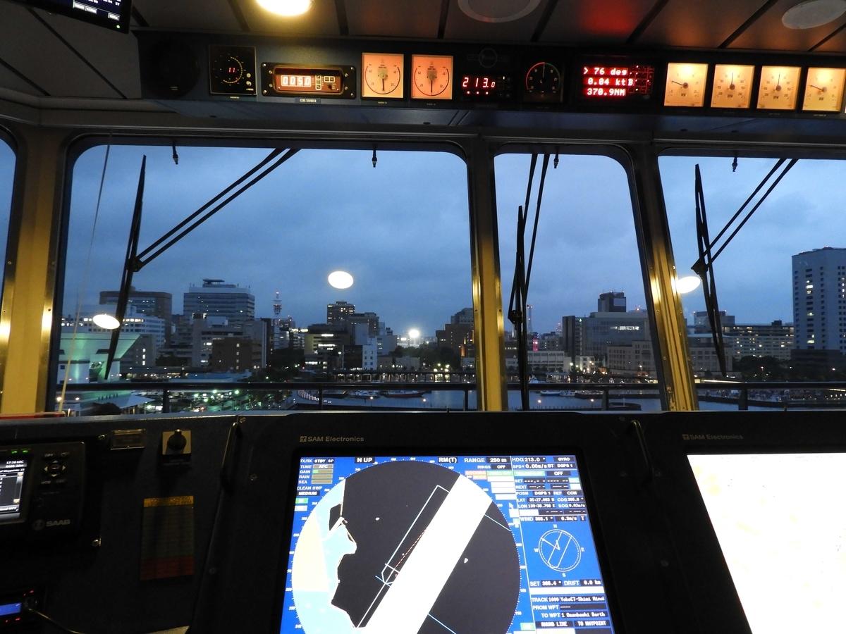 操舵席からの視界