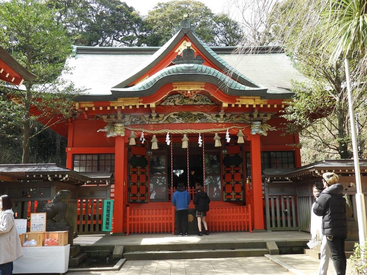正面から見た中津宮の拝殿