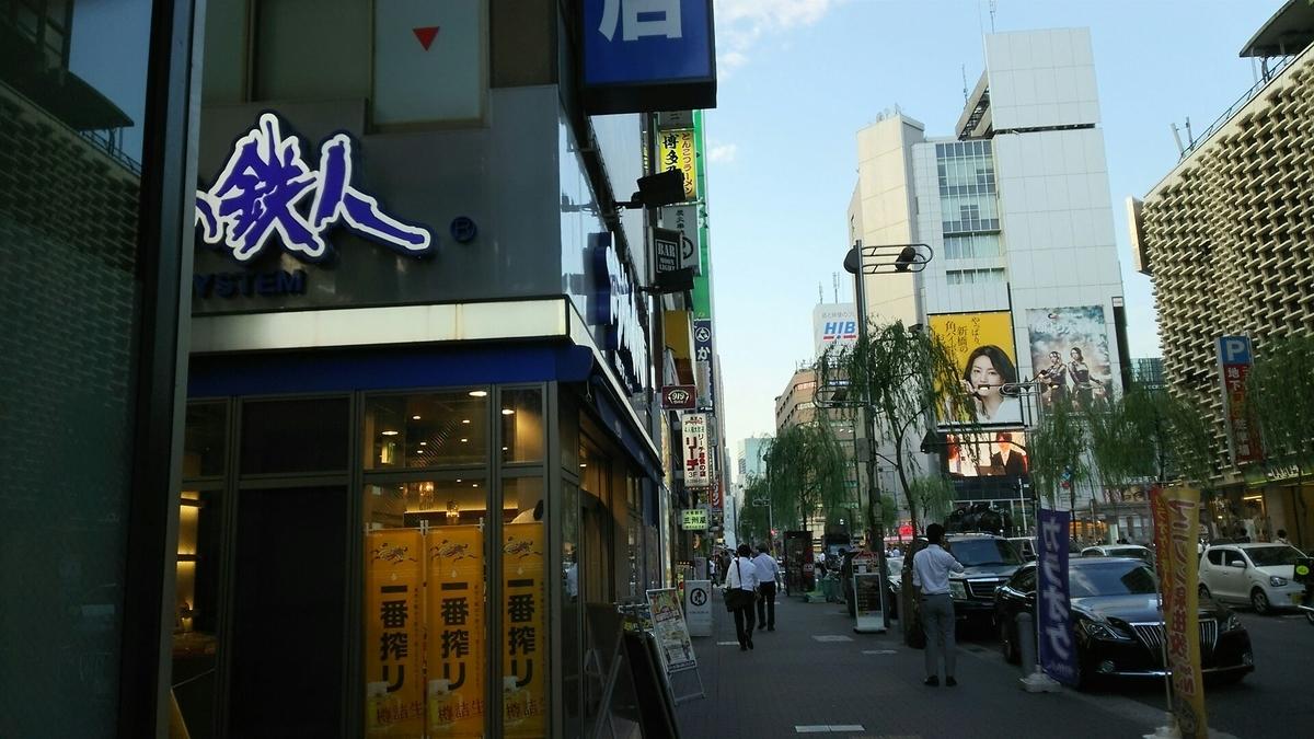 新橋駅前の繁華街
