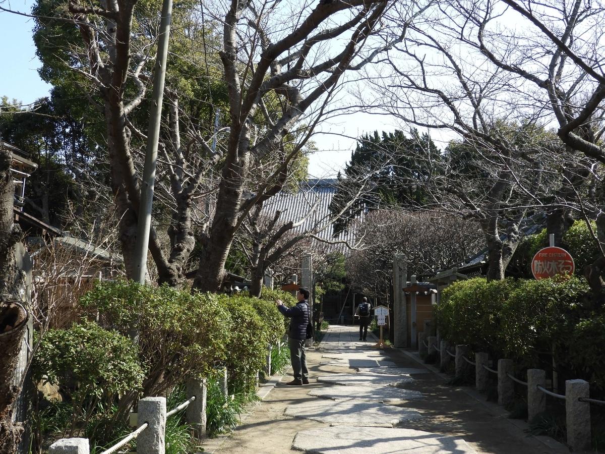 宝戒寺の参道