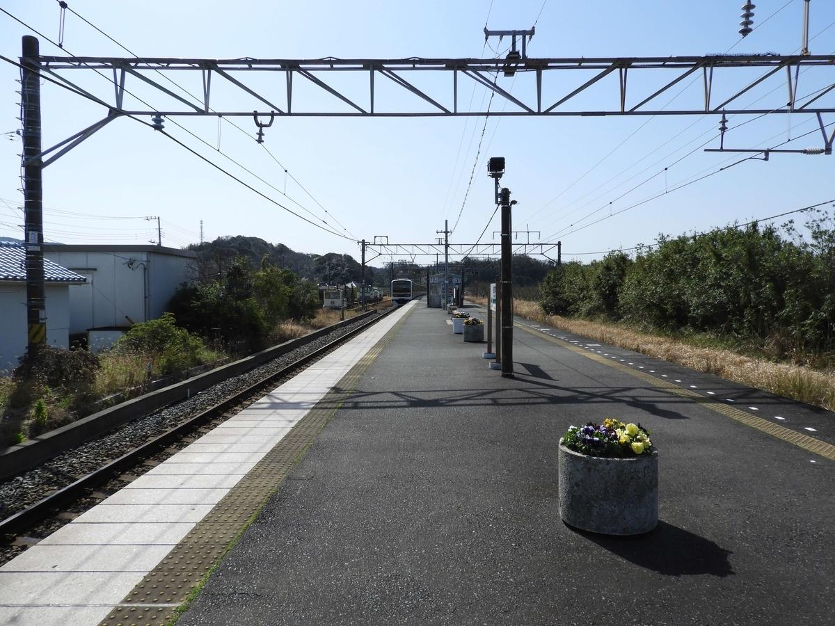 佐貫町駅のホーム