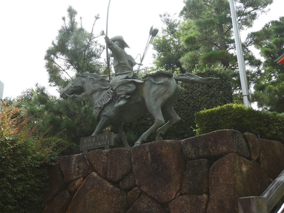 高田馬場の流鏑馬像
