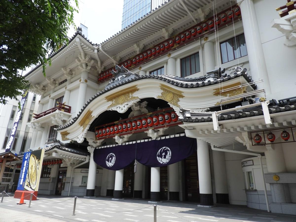 閑散とした歌舞伎座