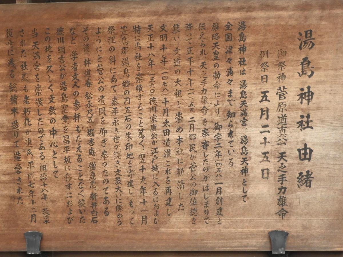 湯島天神の社伝