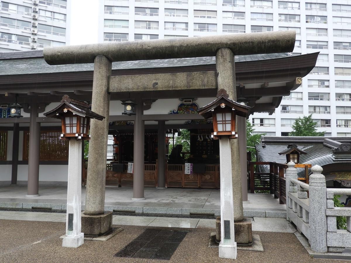 摂社の笹塚稲荷神社と戸隠神社