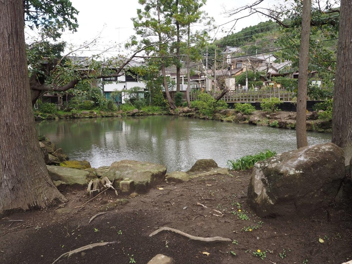 白鷺池の総門に向かって左側部分
