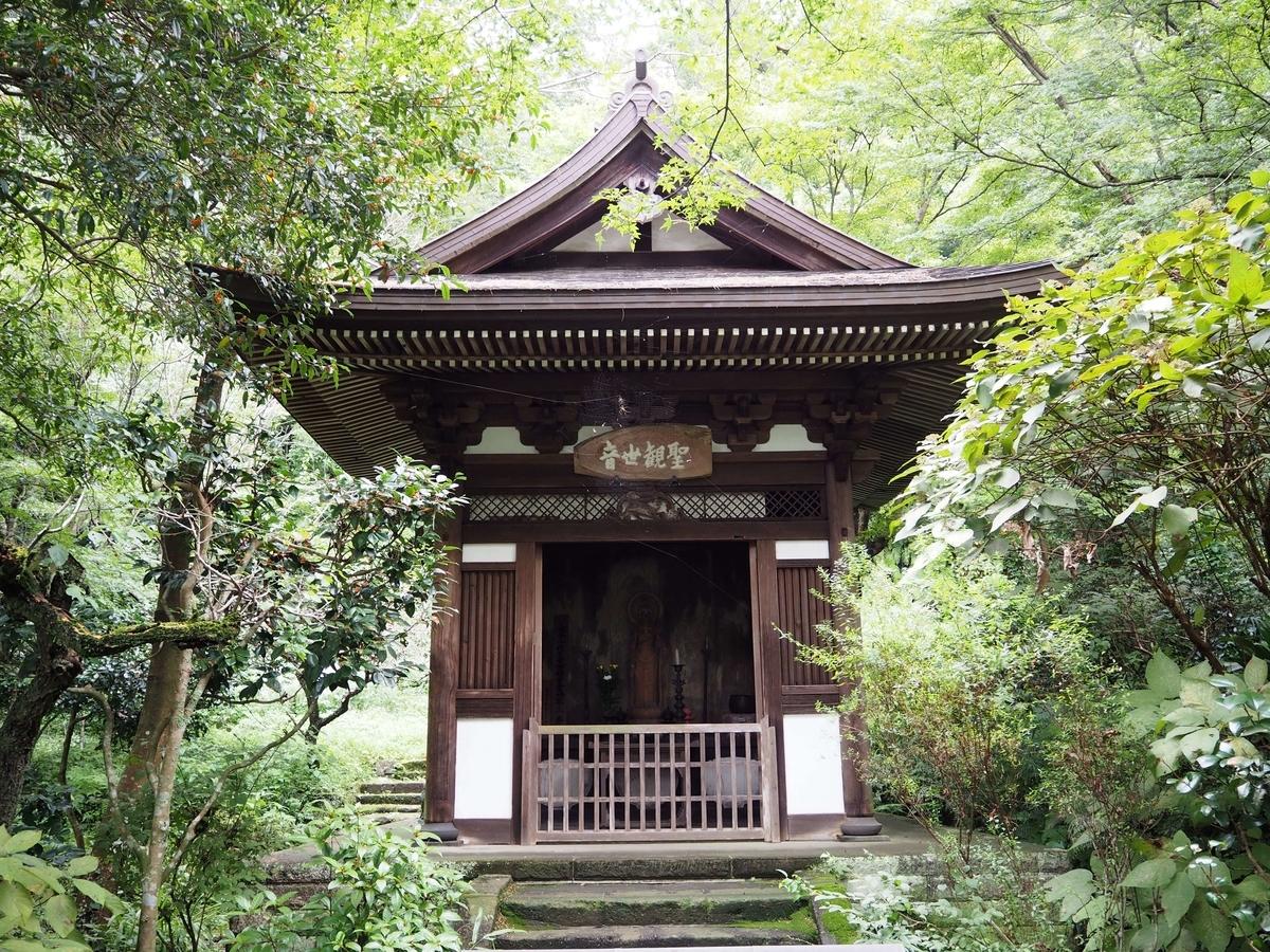 聖観世音菩薩像を祀るお堂