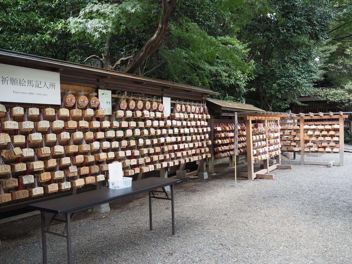 乃木神社の絵馬掛け