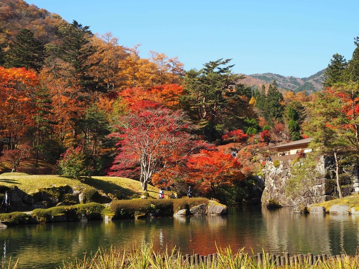 古峯園の見頃の紅葉