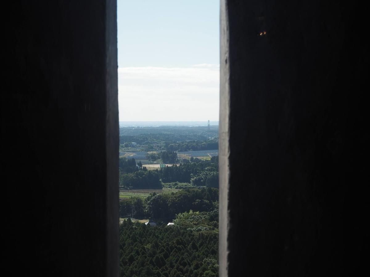 スリット状に設けられた小窓