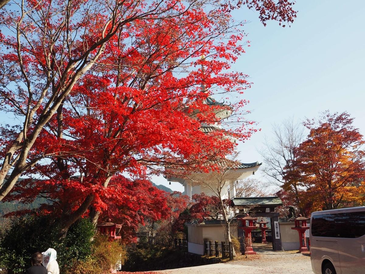 玄奘三蔵塔付近の紅葉