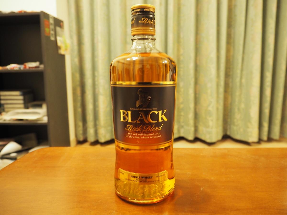 ブラックニッカリッチブレンドのボトル