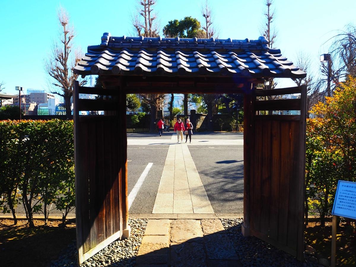 幸田露伴の旧宅の門