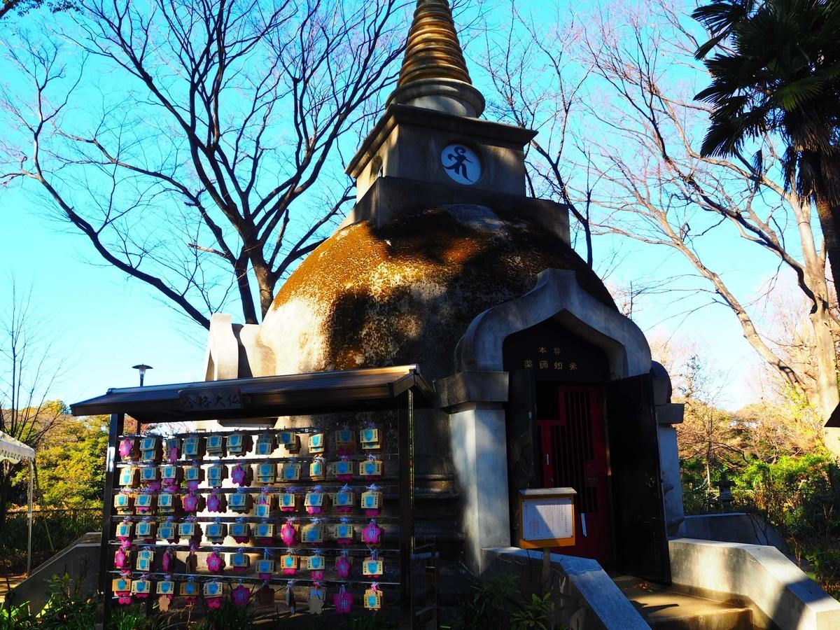 上野大仏のパゴタ