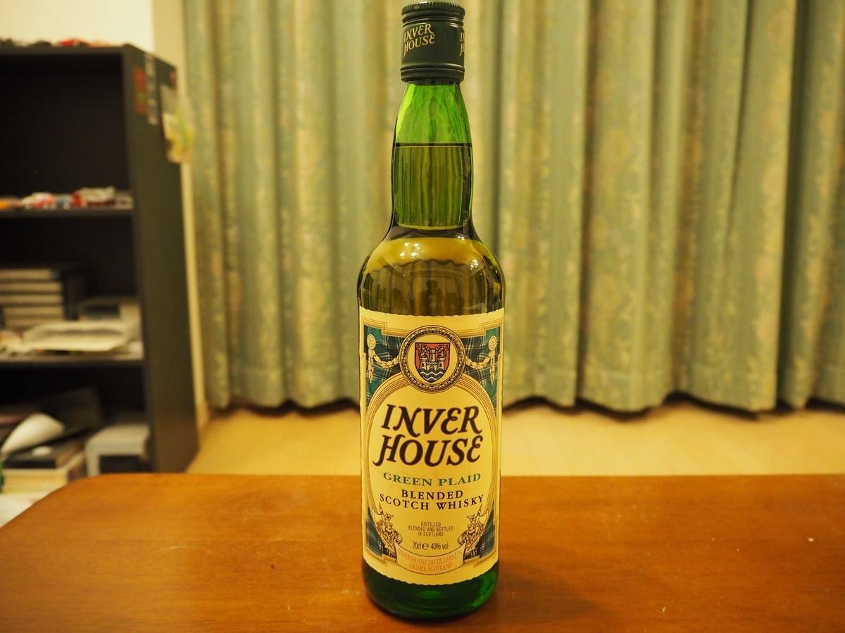 インバーハウスグリーンプレイドのボトル