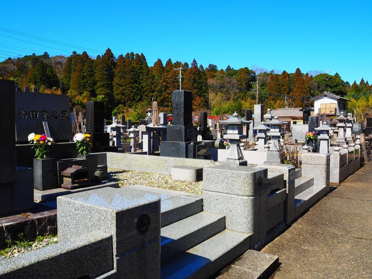 長福寿寺境内の霊園