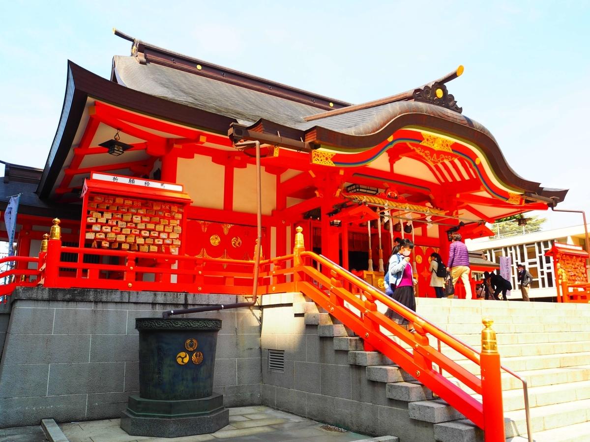花園神社の鉄筋コンクリート造の社殿
