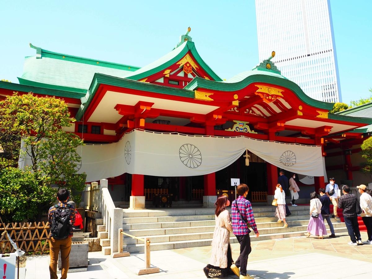 日枝神社の社殿