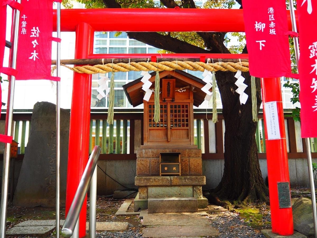 結神社の隣にある境内社の喜代住稲荷神社