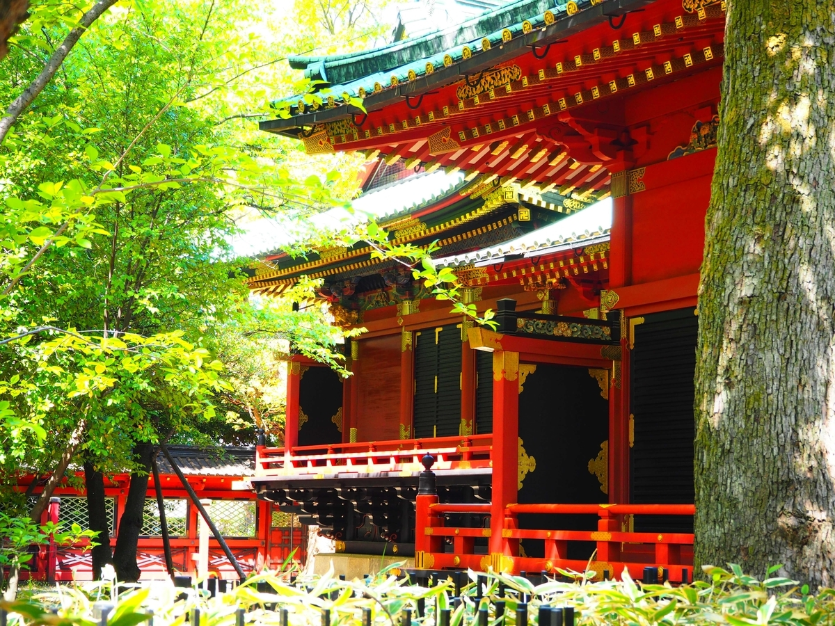 重要文化財である根津神社の本殿