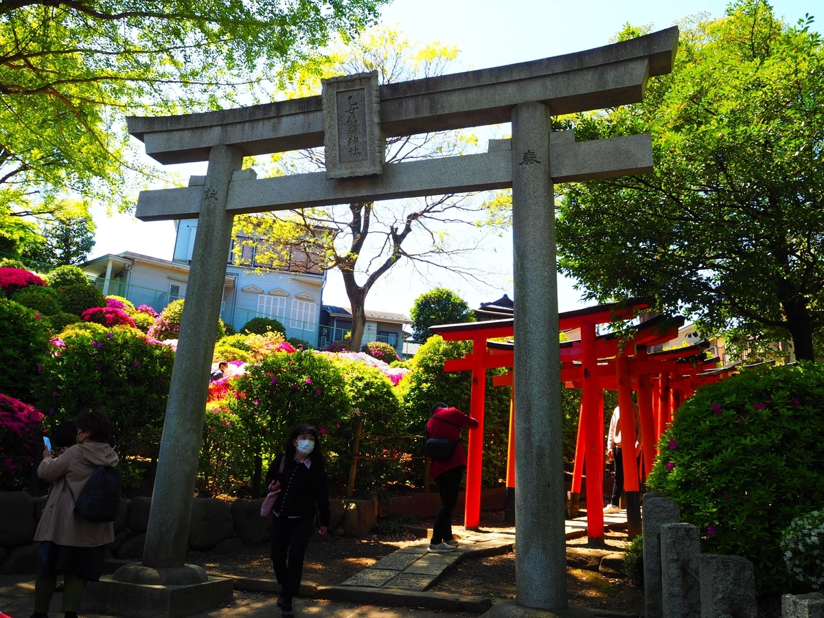 乙女稲荷神社の千本鳥居入口