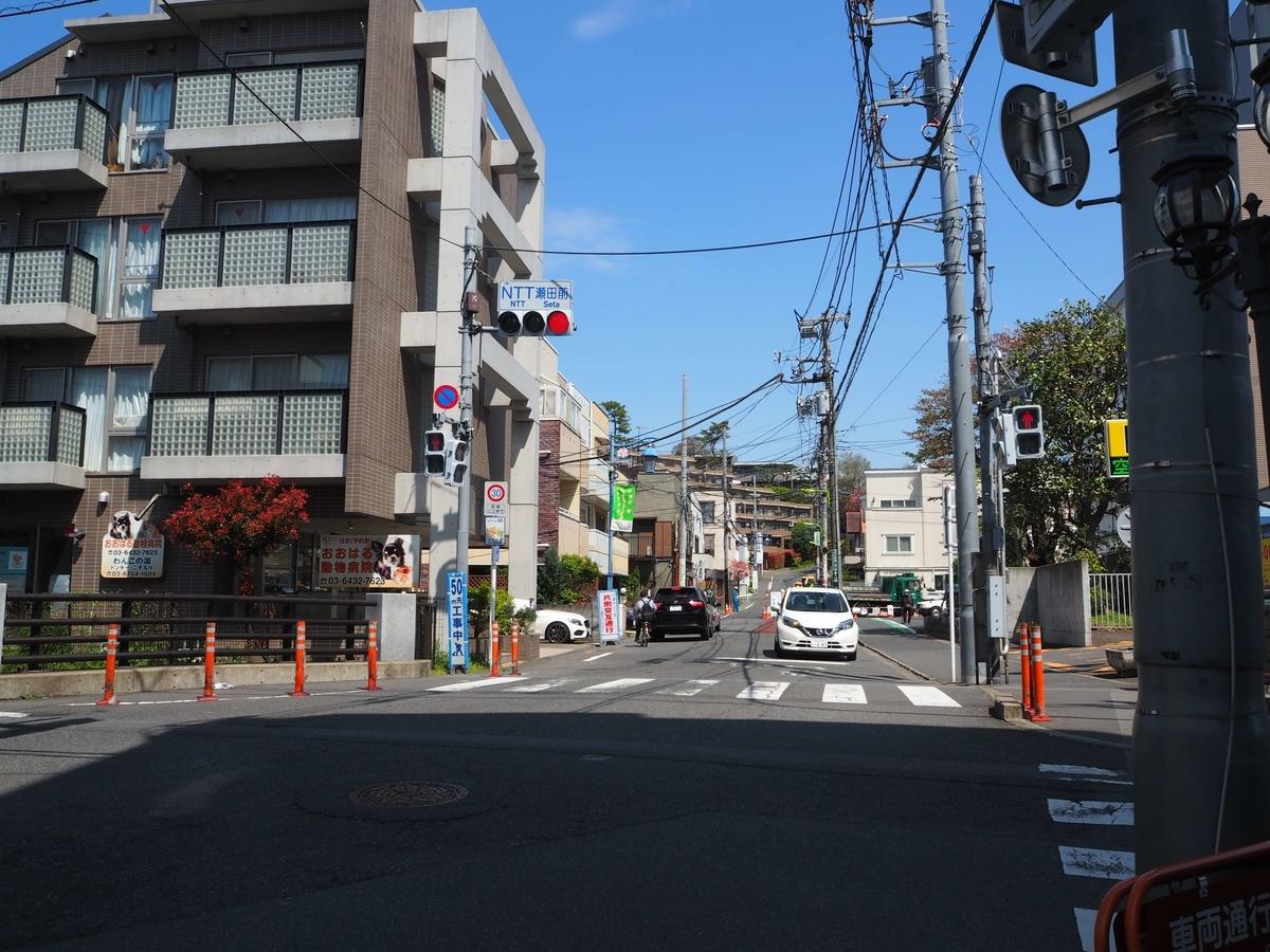 「NTT瀬田前」交差点