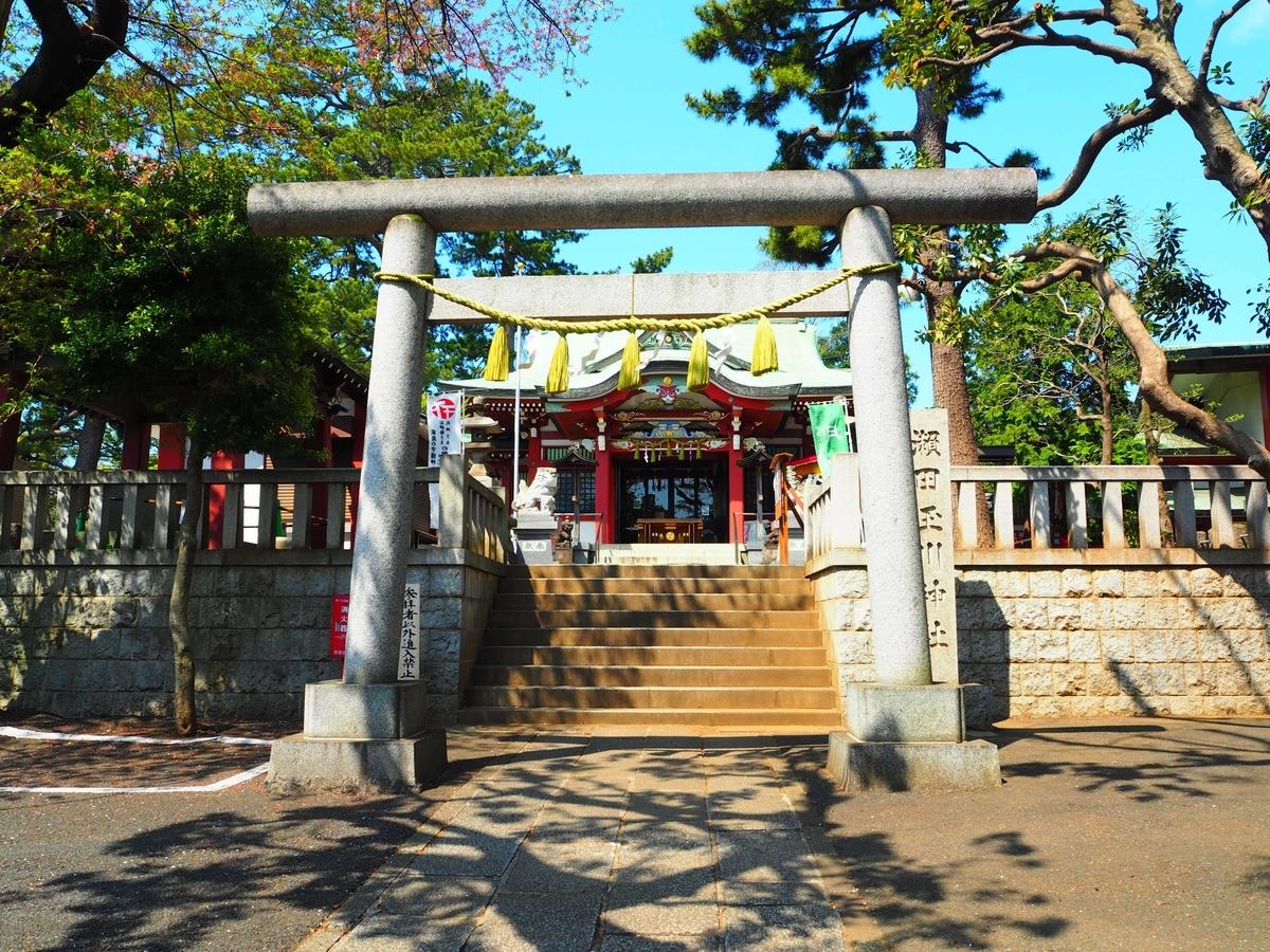 瀬田玉川神社の大鳥居