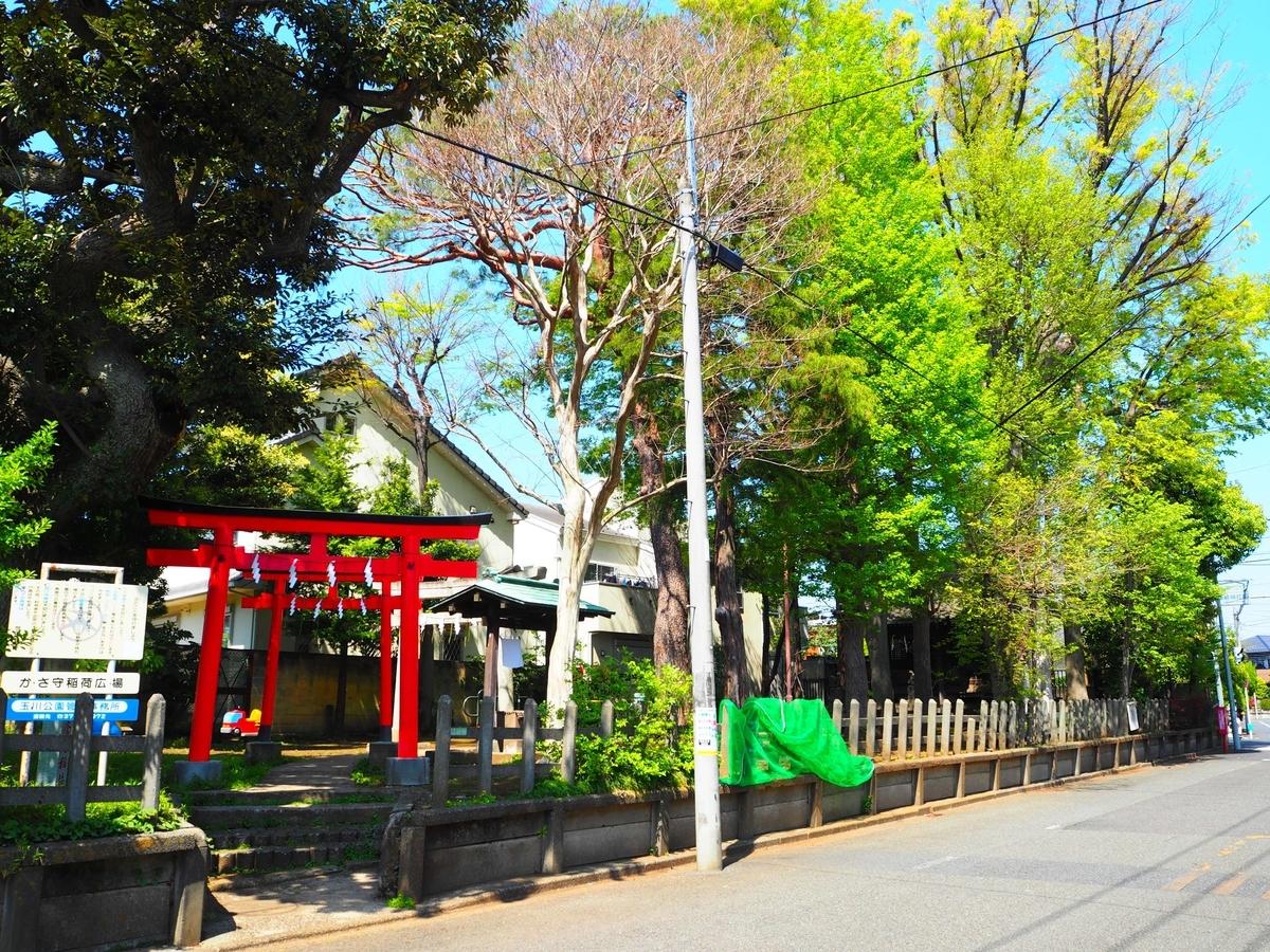 瘡守稲荷神社の敷地
