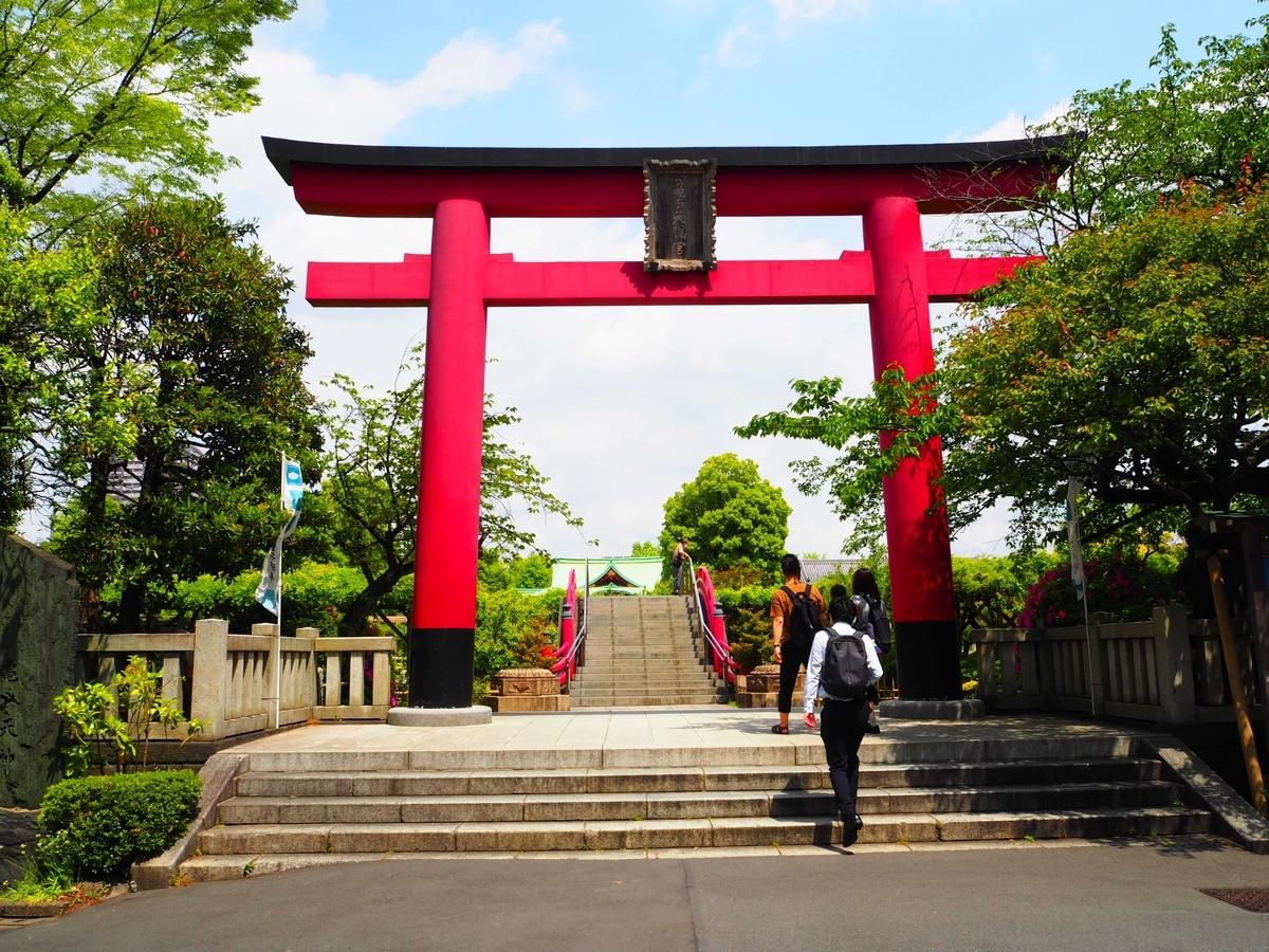 亀戸天神社の大鳥居