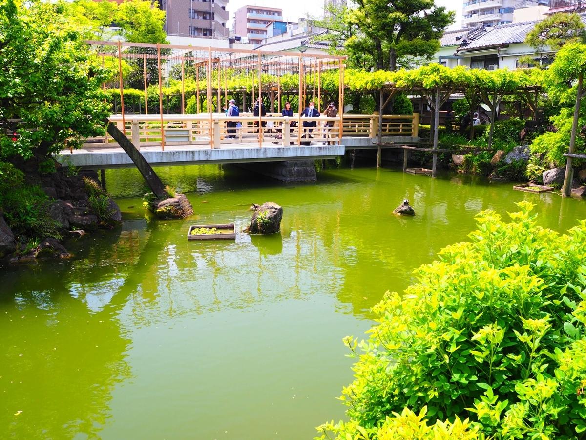 亀戸天神社の心字池