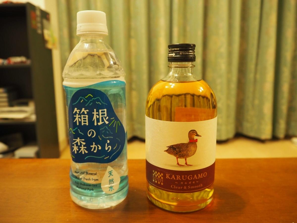 カルガモと箱根の森の天然水