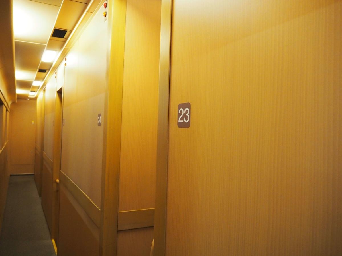 11号車の右手側にある廊下