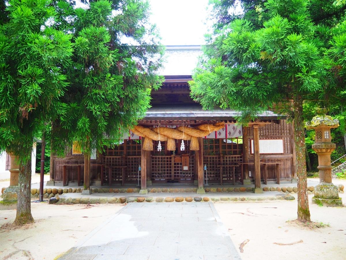 玉作湯神社の拝殿