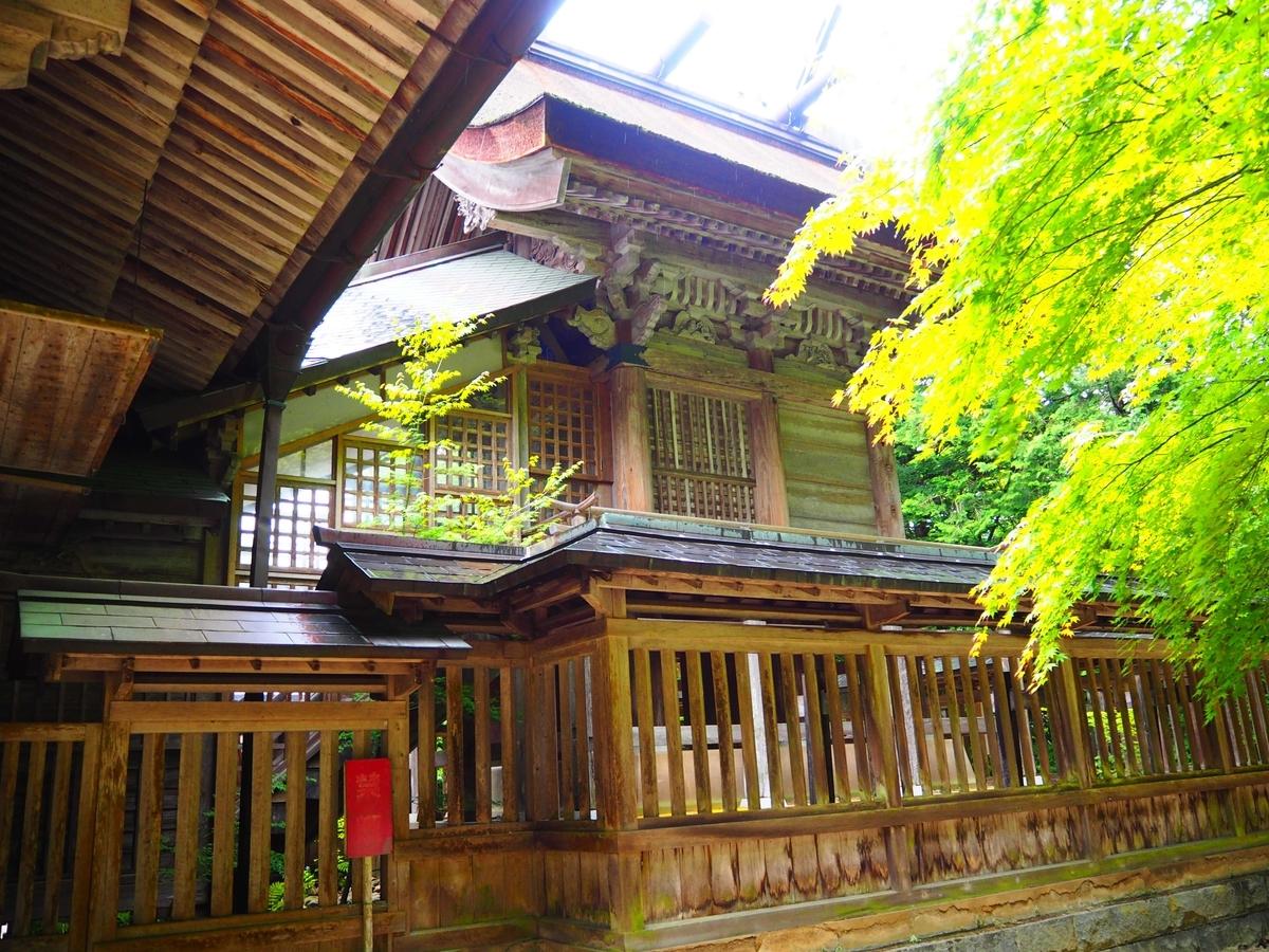 幕末に再建された玉作湯神社の本殿