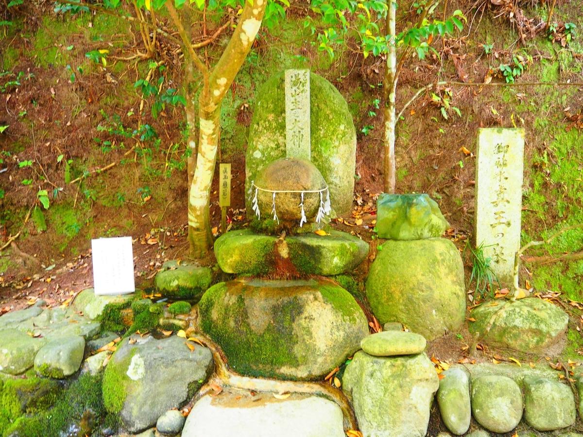 拝殿向かって右手に置かれている願い石
