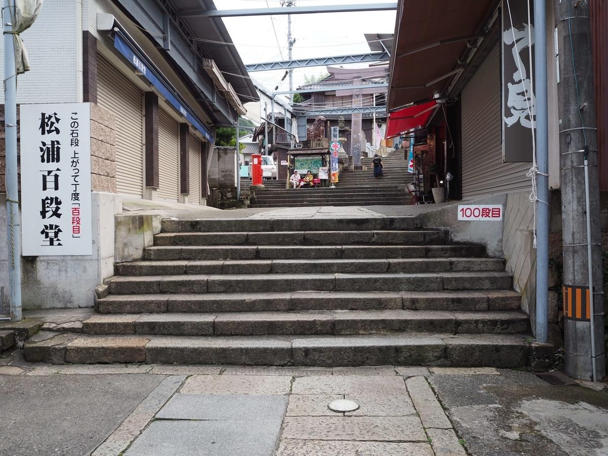 階段の百段目に面する百段堂
