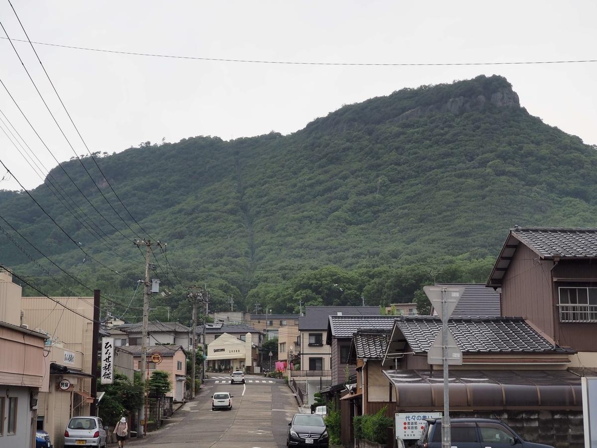 琴電屋島駅から見た屋島