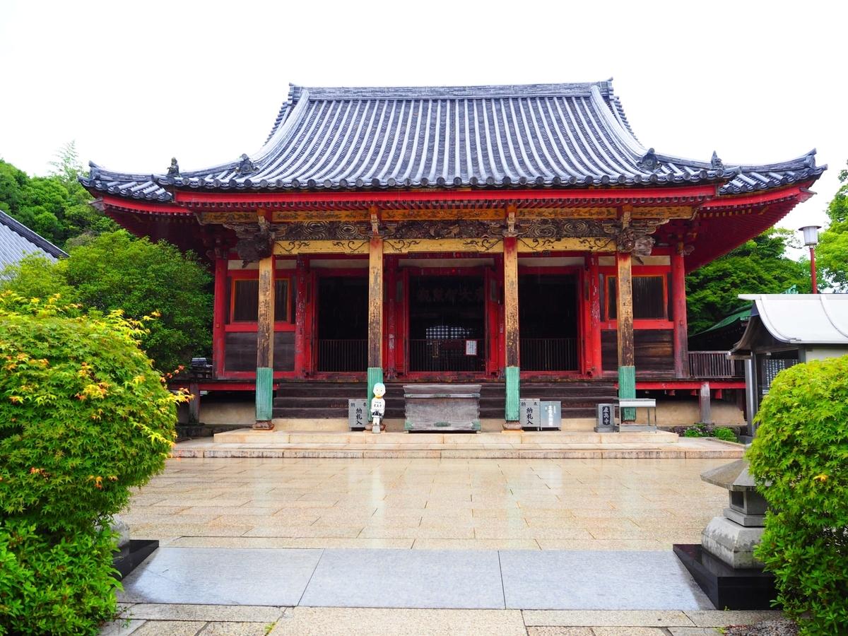 屋島寺の本堂正面