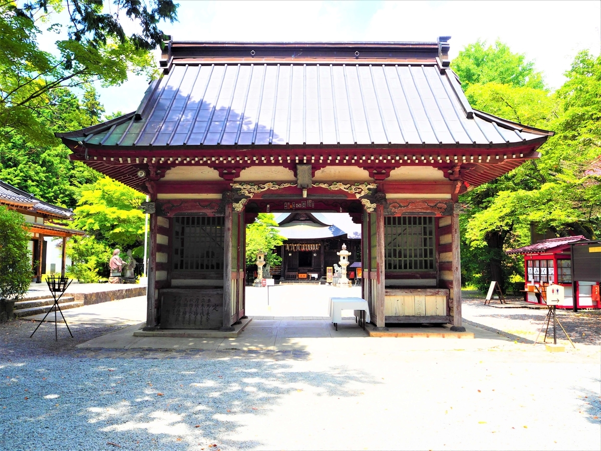 冨士御室浅間神社の隋神門