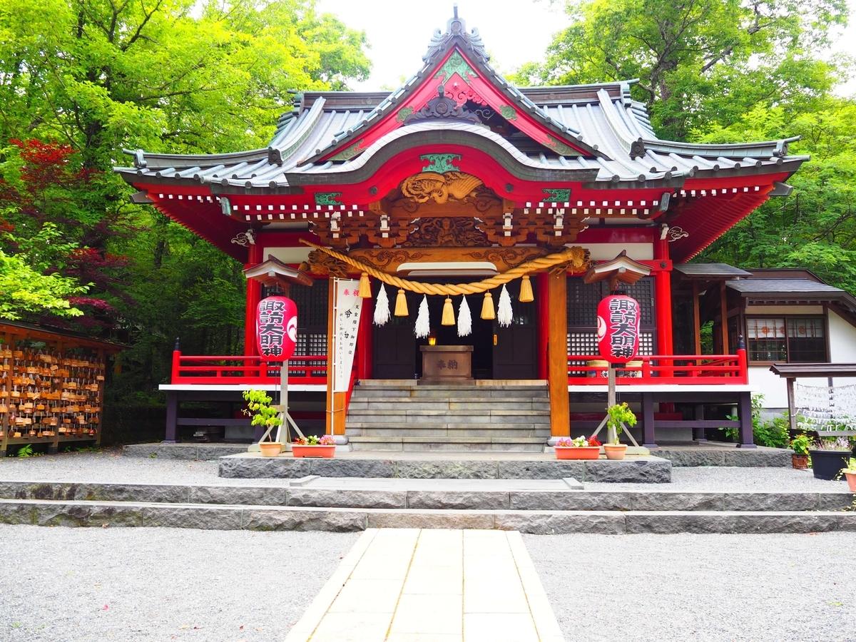 山中諏訪神社の拝殿