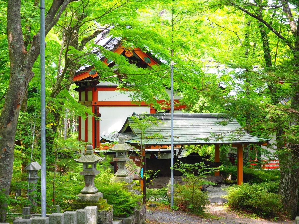 山中諏訪神社の本殿