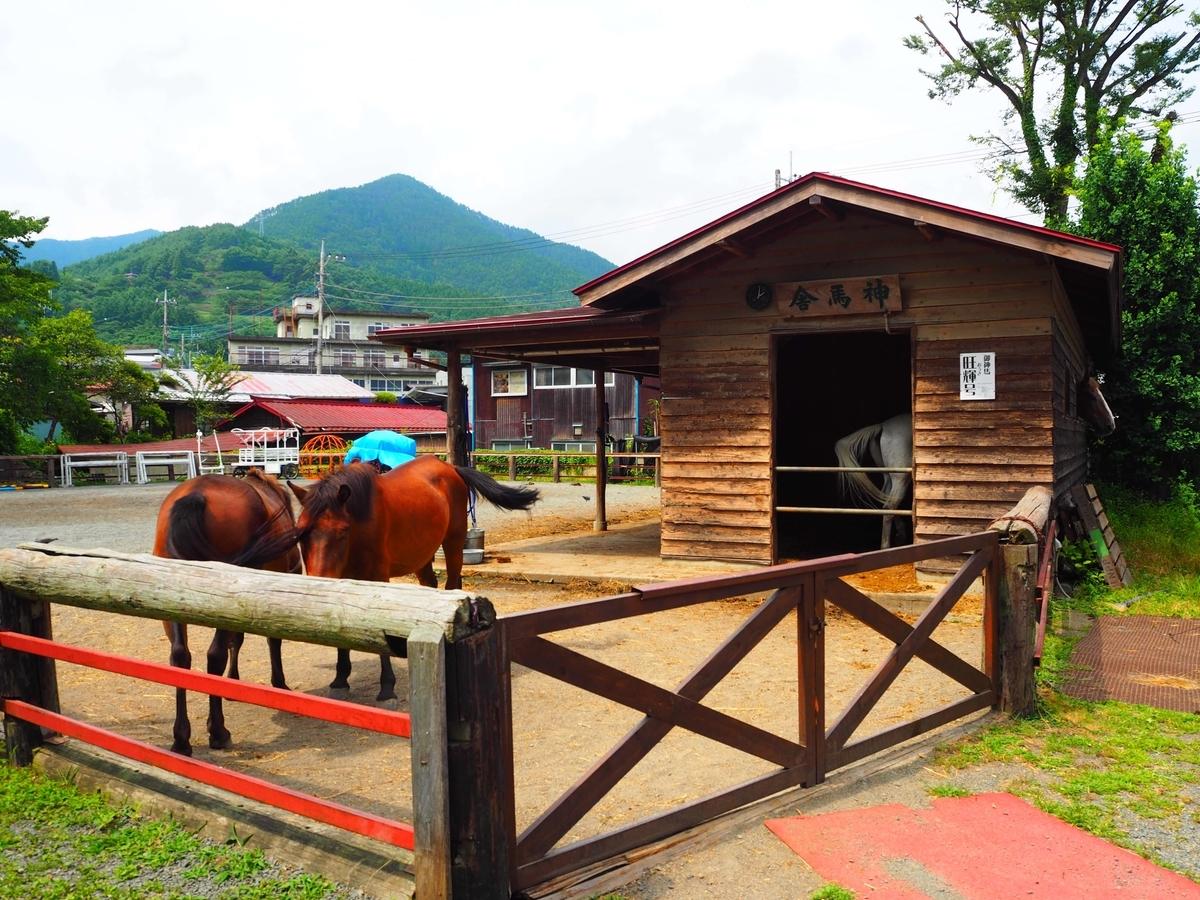 小室浅間神社の神馬舎と神馬
