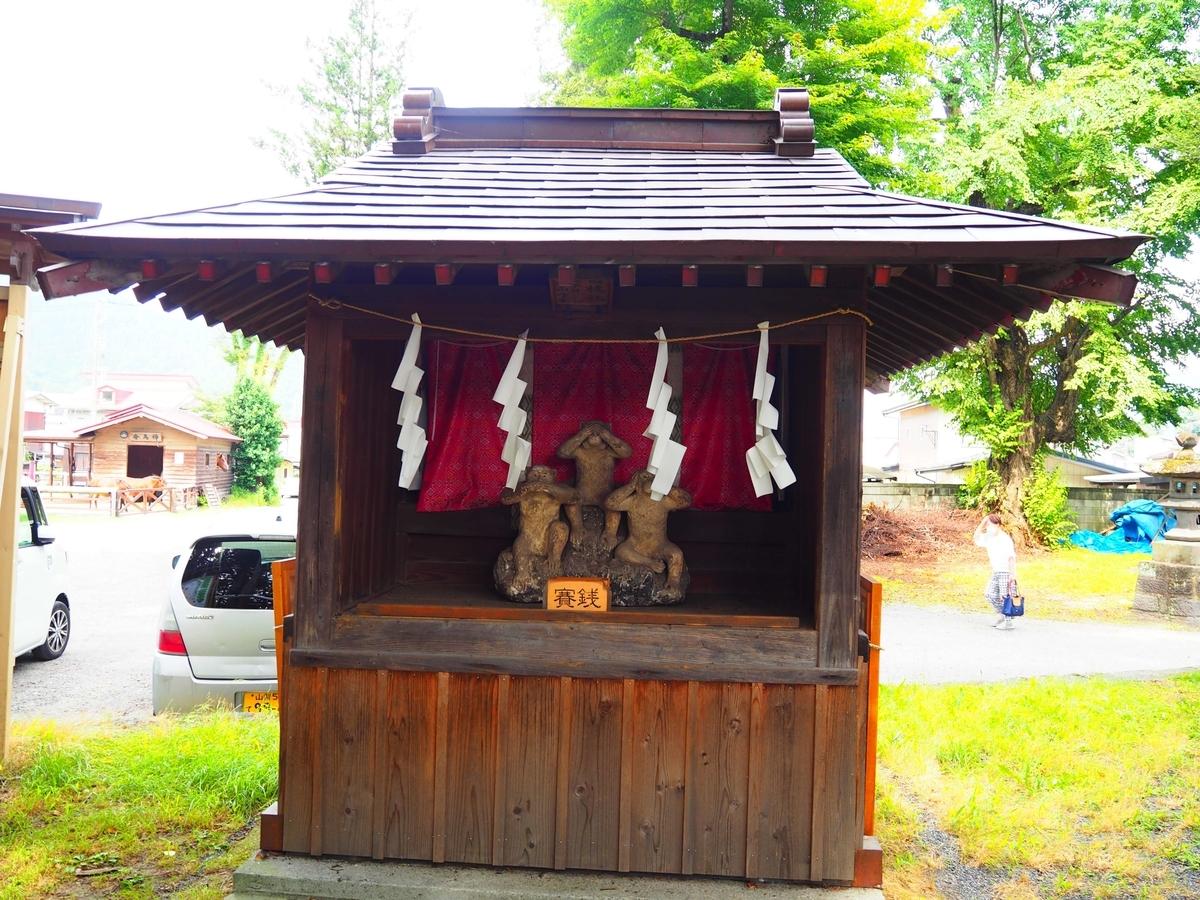 日枝社と三猿