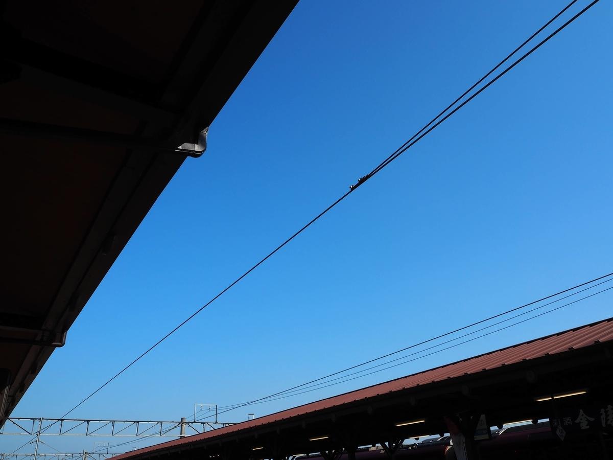 琴平駅の架線